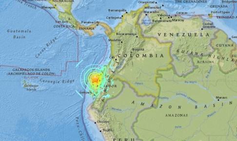 エクアドル震源地2016