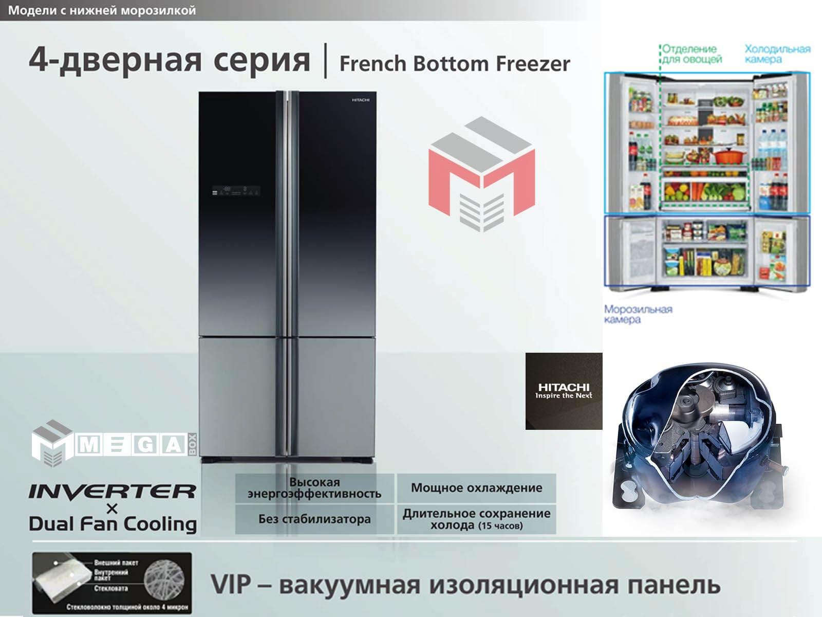 hitachi-r-wb800puc5gbk-min Холодильник Hitachi R-WB800PUC5XGR