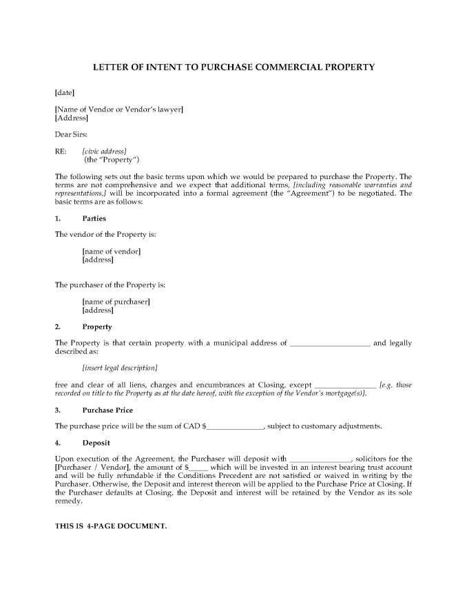 Letter Of Intent For Commercial Lease Template | Newsinvitation.co