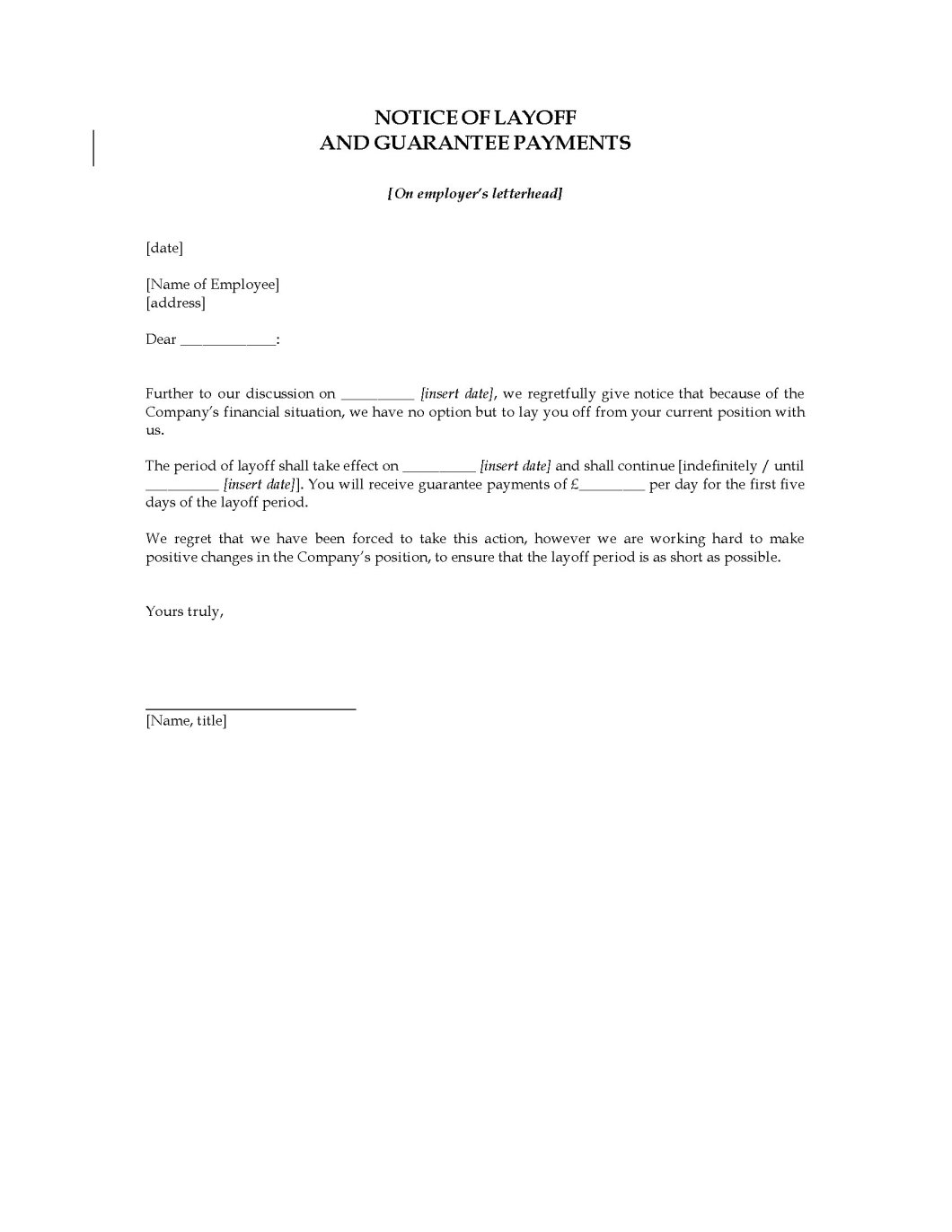 temporary layoff letter sample ontario cekharga blog