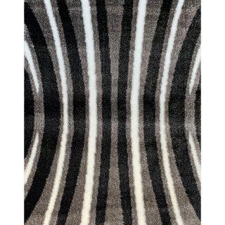 Hoogpolig Vloerkleed - Grijs / Zwart Shaggy