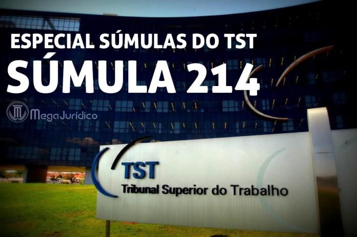 especial sumula 214 TST
