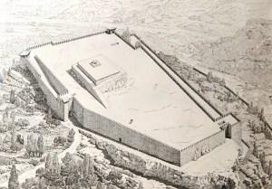 Possibile ricostruzione dell'acropoli di Alatri nella sua totalità
