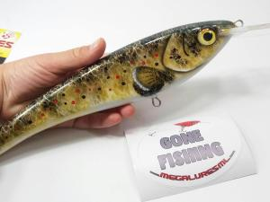 megalures-Custom Lures Electra Brown Trout