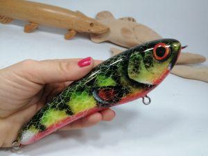 megalures-Firetiger Jerkbait Musky Lures Custom Lure Fishing Baits