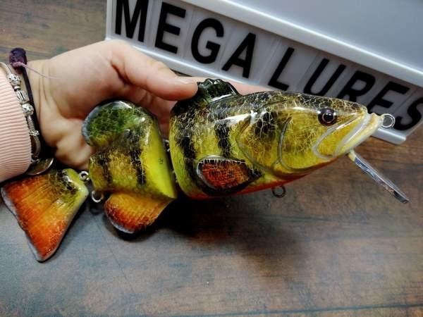 Fatboy Jr Orange Belly Perch, custom lures