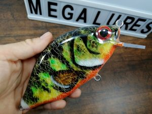 Orange Belly Perch, MiniCrank, Megalures, Custom lures, fishing, handmade lures
