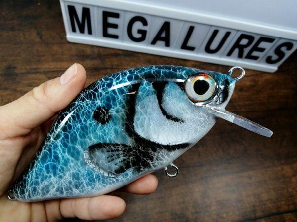 Shad, MiniCrank, Megalures, Custom lures, fishing