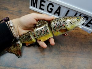 Musky lures mega trout, brown trout, musky fishing, custom baits