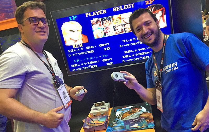Lucas e Rafael do site MegaMan.com.br na BGS 2019