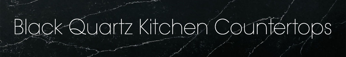 Black Quartz Kitchen Countertops