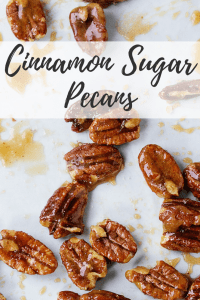 Cinnamon Sugar Pecans - Make this sweet and salty treat as a snack for Thanksgiving Day or for the perfect gift to give to your friends and neighbors.