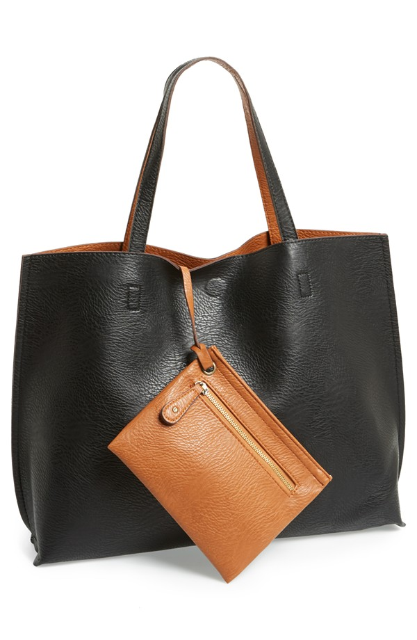 Reversible Faux Leather Tote - Megan & Wendy Gift Guide 2015