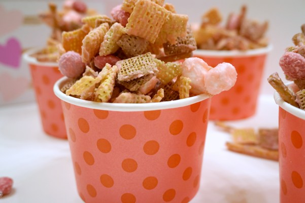 Cupid Crunch - Chex Mix Candy for Valentine's Day from Megan & Wendy