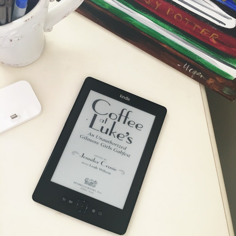 Coffee at Luke's by Jennifer Crusie is an unauthorized behind-the-scenes book about Gilmore Girls and what made the series so special. Available on Amazon in paperback, audiobook and Kindle.