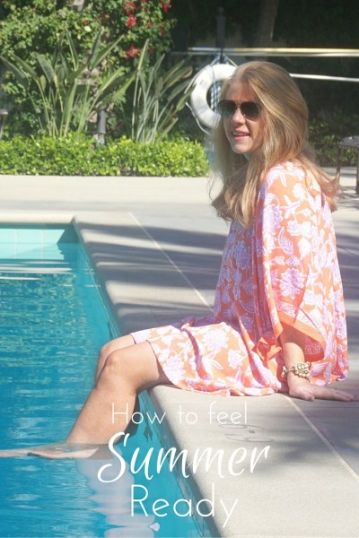Are you ready to spend your days at the pool? Find out what my go-to, at-home, pre-pool routine is and how it makes me feel summer ready.