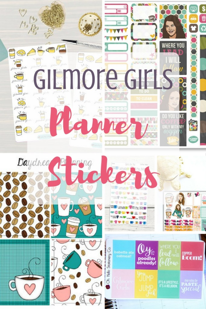 Gilmore Girls Planner Sticker Roundup - Text