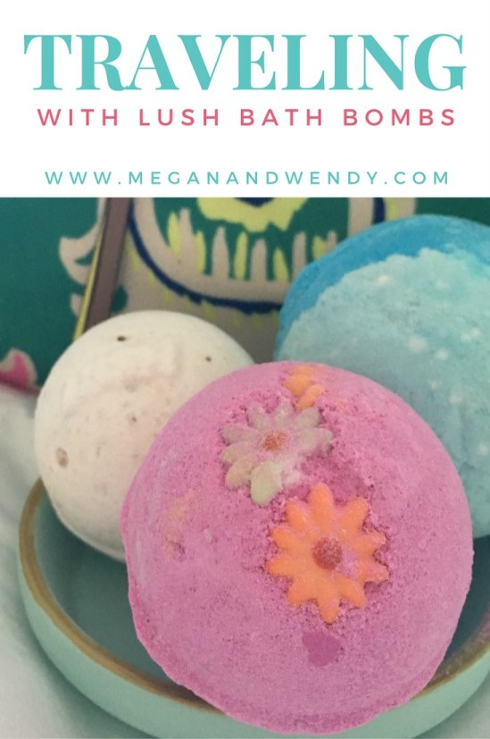 Tips on how to travel with a Lush bath bomb.