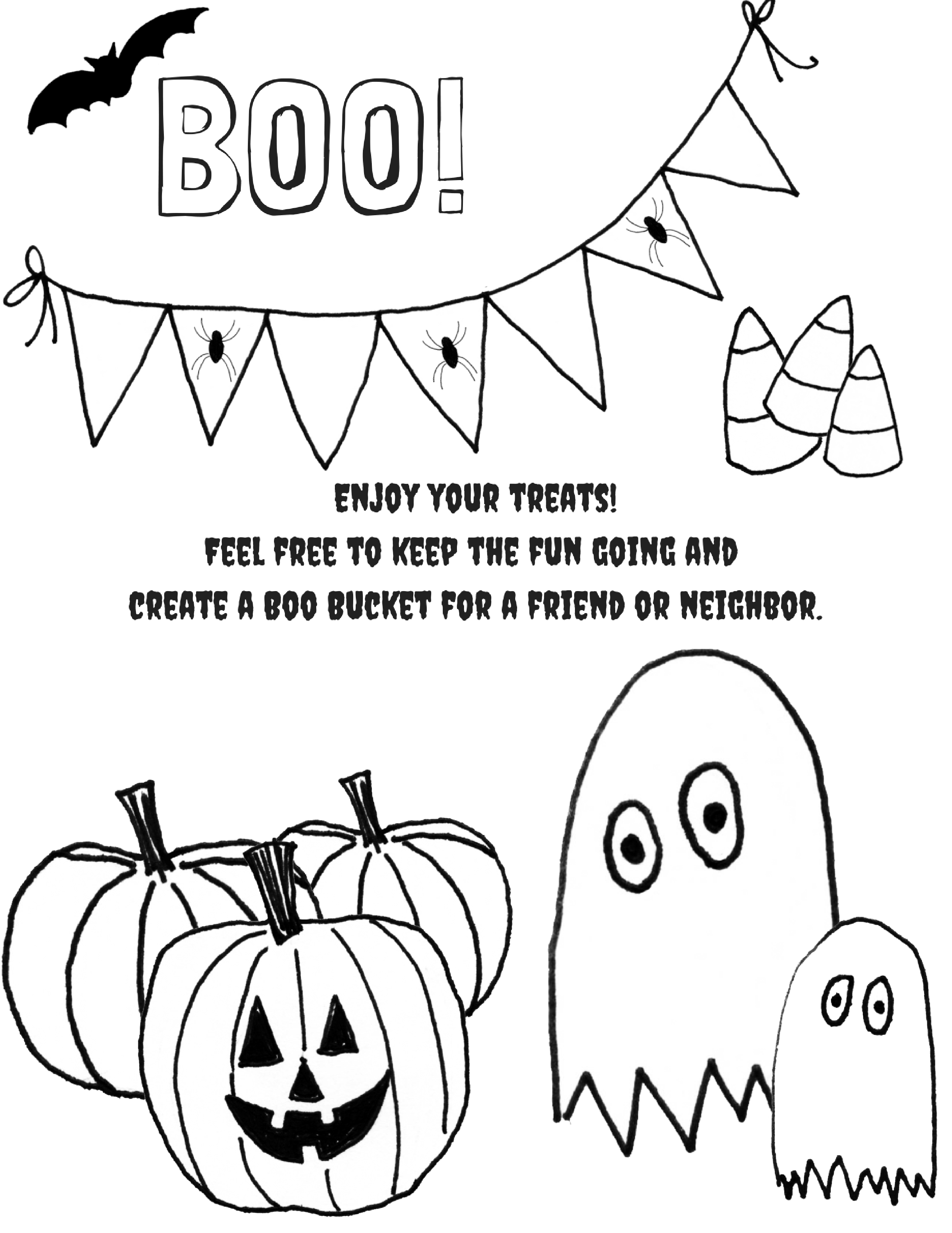 picture about Bucket Printable known as Youve Been Booed! Boo Buckets, Tags and Drive! - Extended
