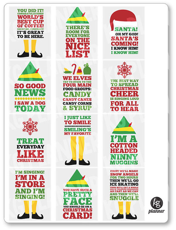 Elf Quote Stickers
