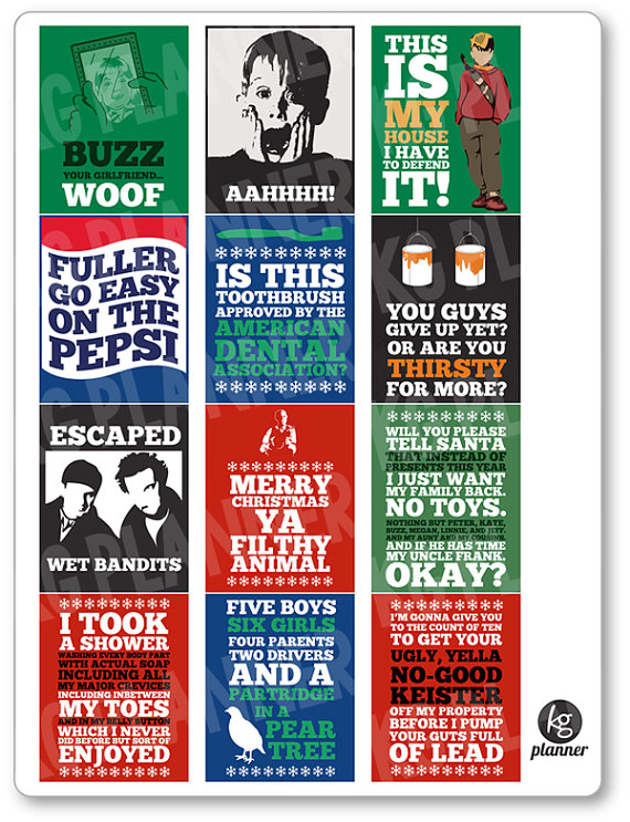 Home Alone Quote Stickers