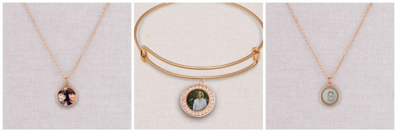 Rose gold jewelry from Shutterfly