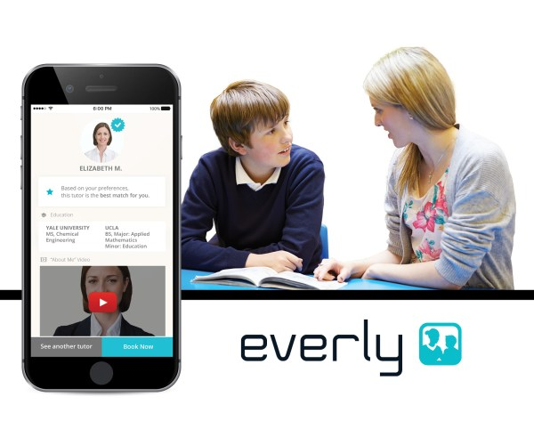 """Everly offers experienced and vetted tutors for in-home, one-on-one tutoring in all K-12 subjects. It's the """"Uber of tutoring."""""""