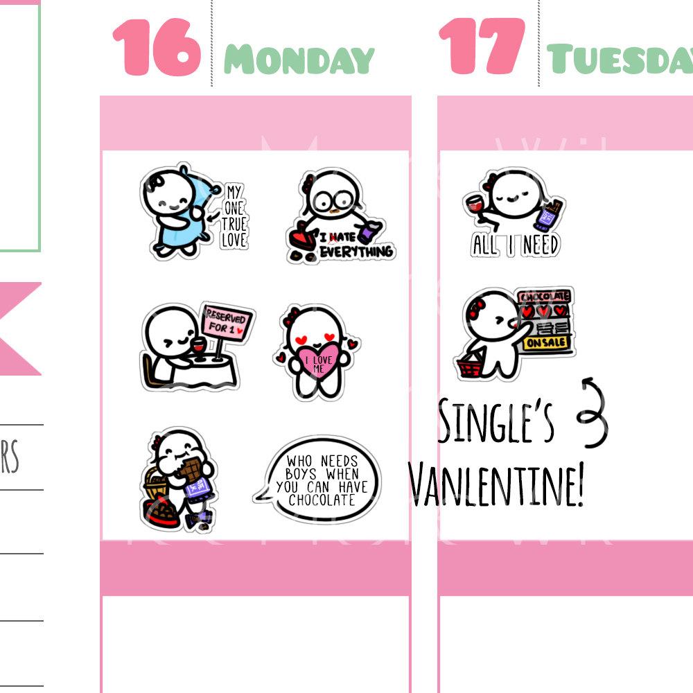 Munchkins Single Valentine's Day Stickers