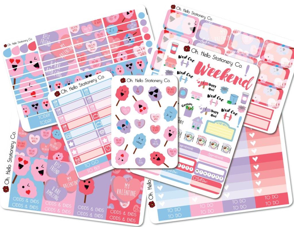 Oh Hello Valentine's Planner Stickers