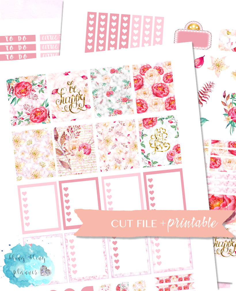Printable Floral Planner Stickers