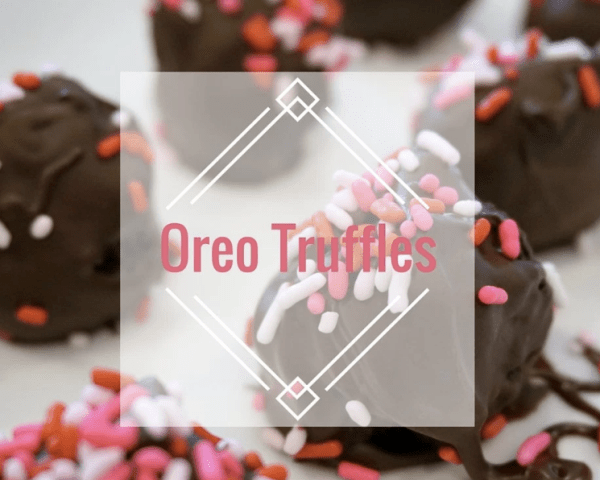Easy and decadent Oreo Truffle recipe. Make these for Valentine's Day!