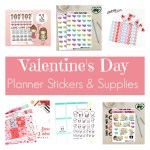 Valentine's Day Planner Stickers and Supplies