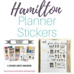 Hamilton Planner Stickers