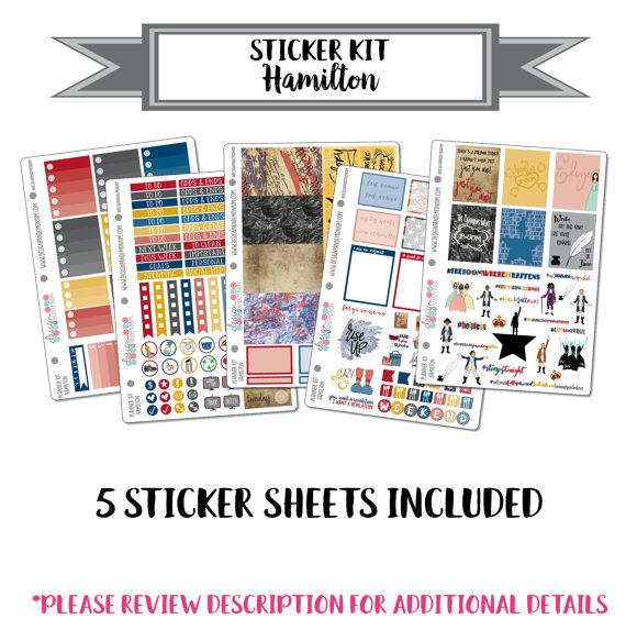 Hamilton Planner Sticker Kit