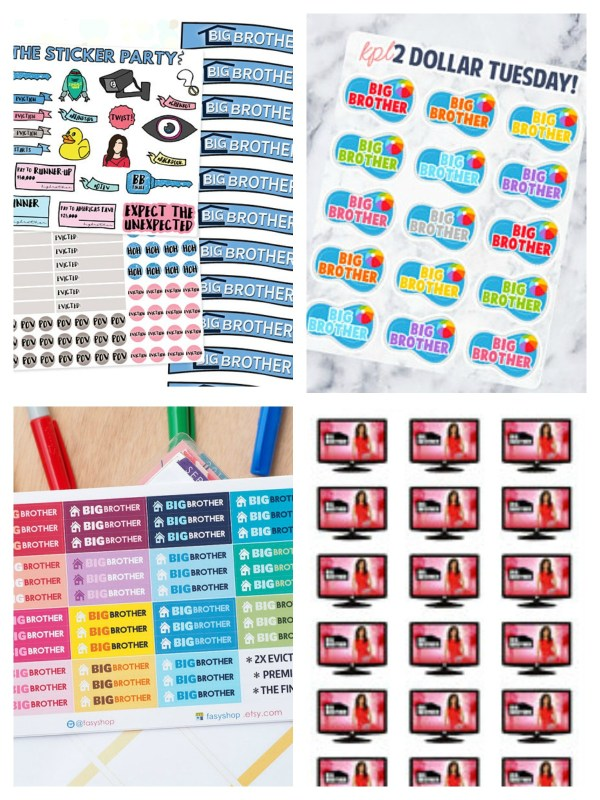 Big Brother Planner Stickers