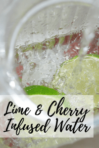 Cherry Lime Infused Water + Infused Water Recipe Roundup