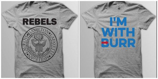 Yellow Dog Tee Etsy | Political t-shirts | Hamilton | Aaron Burr