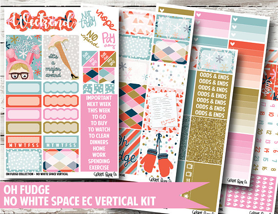 Oh Fudge Planner Stickers - Cricket Paper Co