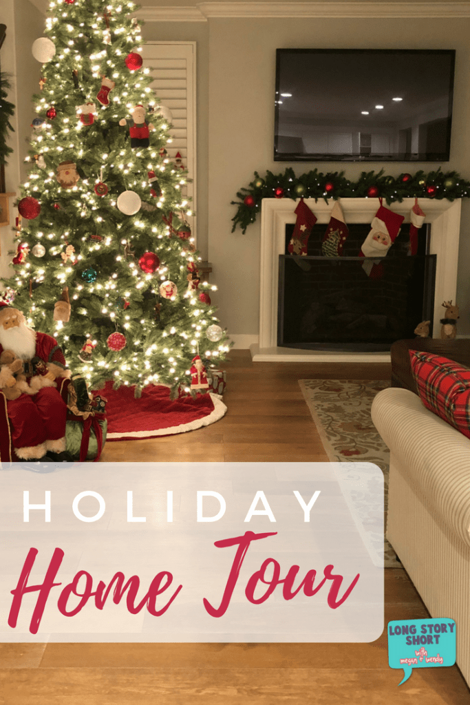 Holiday Home Tour - How we decorate our home for the holidays with a classic and modern styles. We're sharing our favorite <a href=