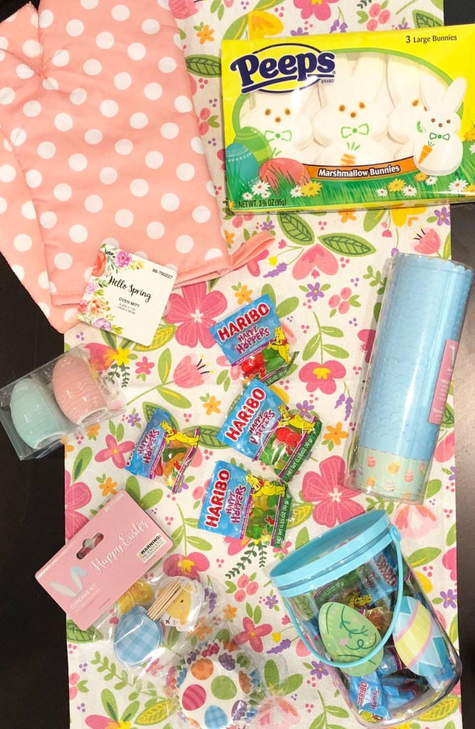 Sweet Treats Easter Basket for the candy-loving baker in your life. Everything is from the dollar store