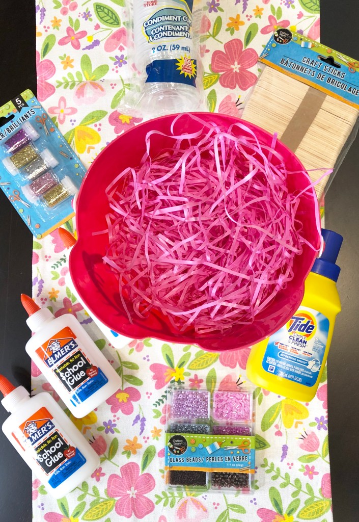 Everything you need for a slime creator easter basket!