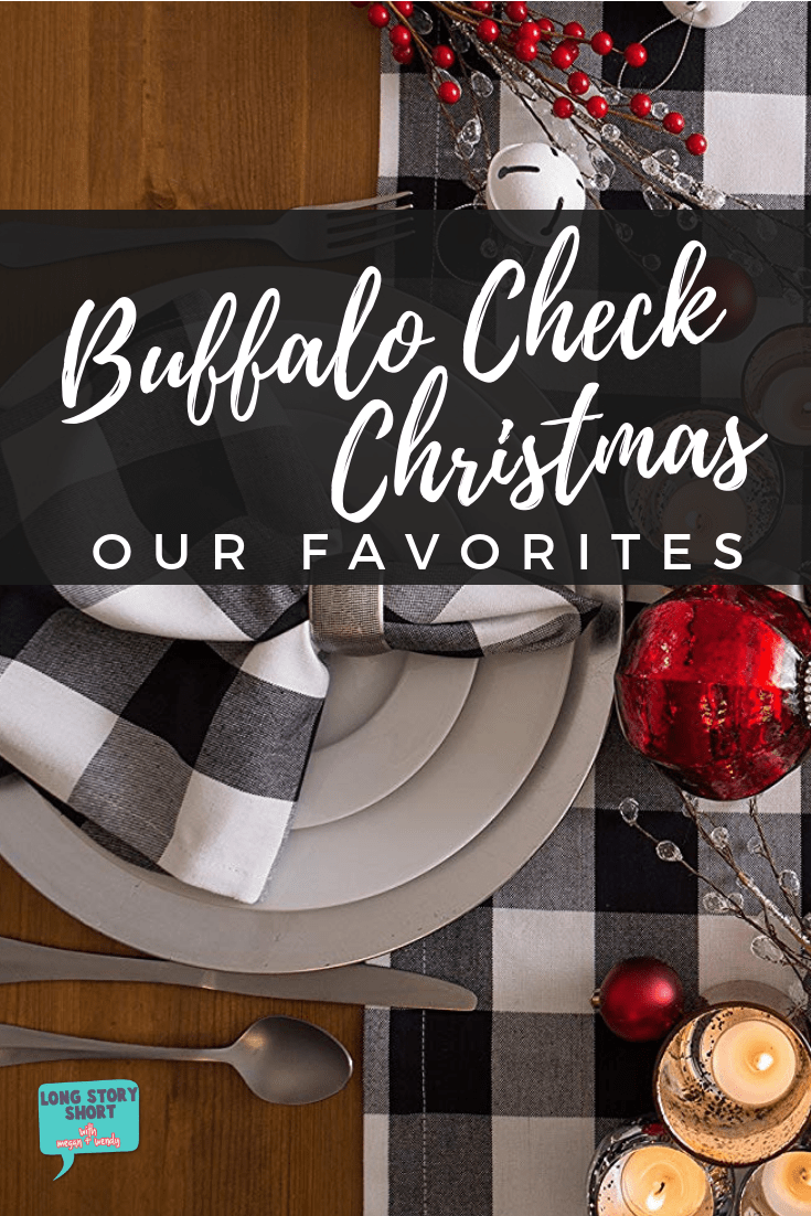 Who else is obsessing over everything buffalo check! We're sharing our favorite black and white plaid looks for Christmas! #trending #homedecor