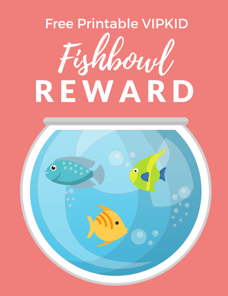 Free Printable VIPKID Fishbowl Reward System - Download and print this fishbowl reward system for use in your own VIPKID classroom!