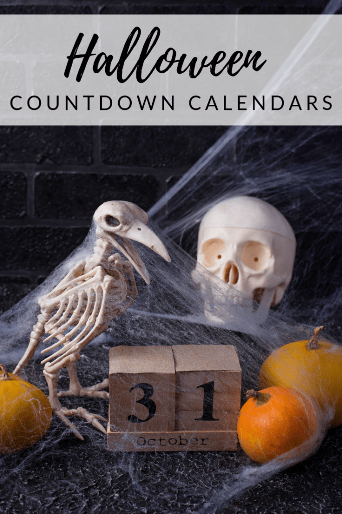 Halloween Countdown Calendars - Count down to the spookiest time of the year with these advent calendars made with Halloween in mind! From handmade, to readily available on Amazon, there's a calendar for every decorating style and every price point! There's even a coffee Halloween countdown calendar!
