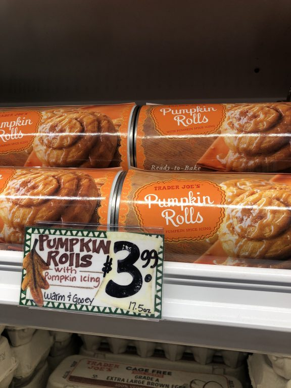 Trader Joe's Pumpkin Rolls $3.99 | Seasonal pumpkin goodies from Trader Joe's!