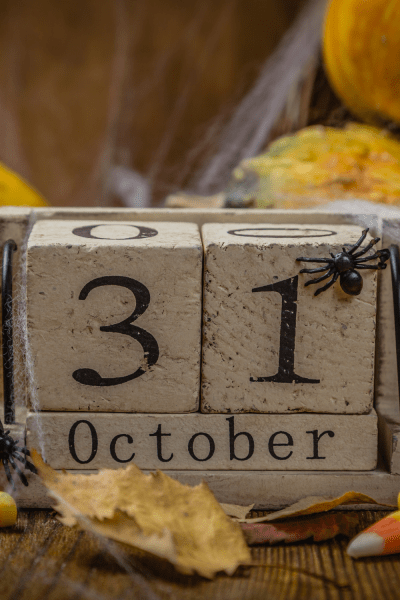 Halloween Countdown Calendars are a fun family tradition to count down the days to Halloween. Etsy has many options to choose from included wooden blocks and haunted houses.
