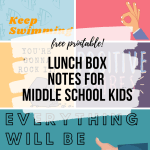 Lunch Box Notes for Middle School Kids