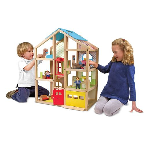Considering a dollhouse for your kid this holiday? Don't miss our list of favorite dollhouses perfect for ANY kid. All price ranges included. | #dollhouse #genderneutral