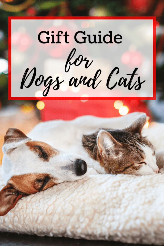 Looking for a cute gift for a pet? Not all toys and treats are made the same. Here's our gift guide for dogs and cats. | #giftguide #forpets #dogs #cats #holidayshopping