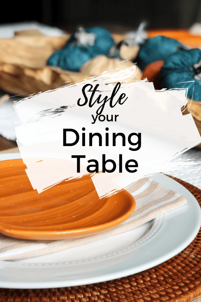 How to set your dining room table - we're showing you how to style your dining room table both for fall and year-round!